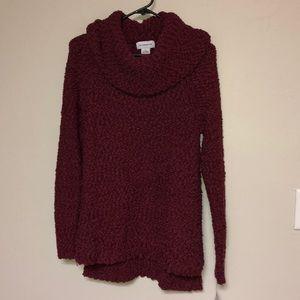 Liz Claiborne cowl neck sweater small NEW